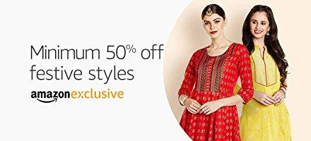 Festive styles: Min. 50% off